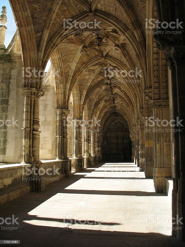 Cathedral Cloister royalty-free stock photo