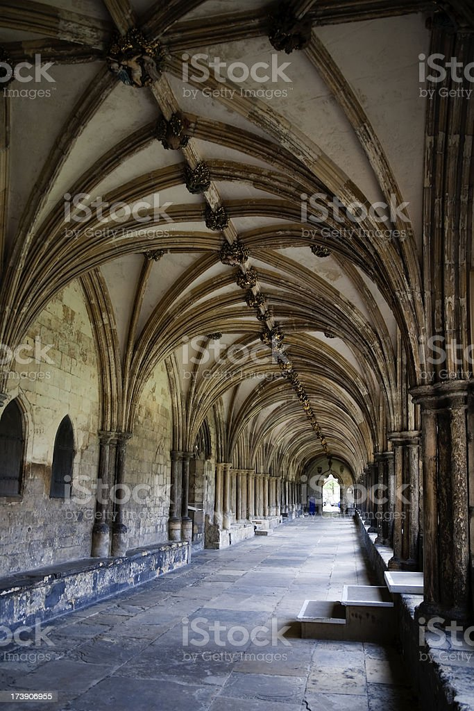 Cathedral cloisters royalty-free stock photo