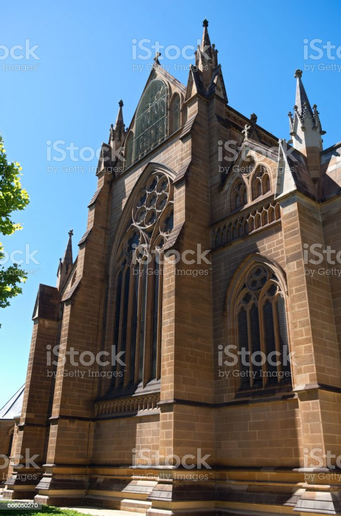 Cathedral Corner in Sydney stock photo