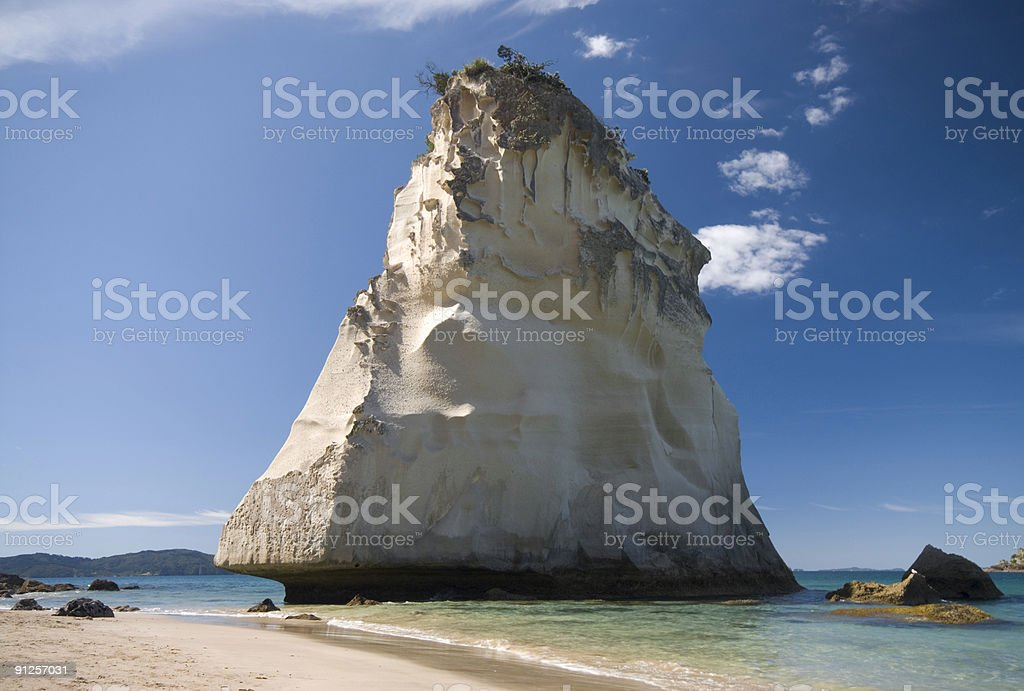 Cathedral cove 2 stock photo
