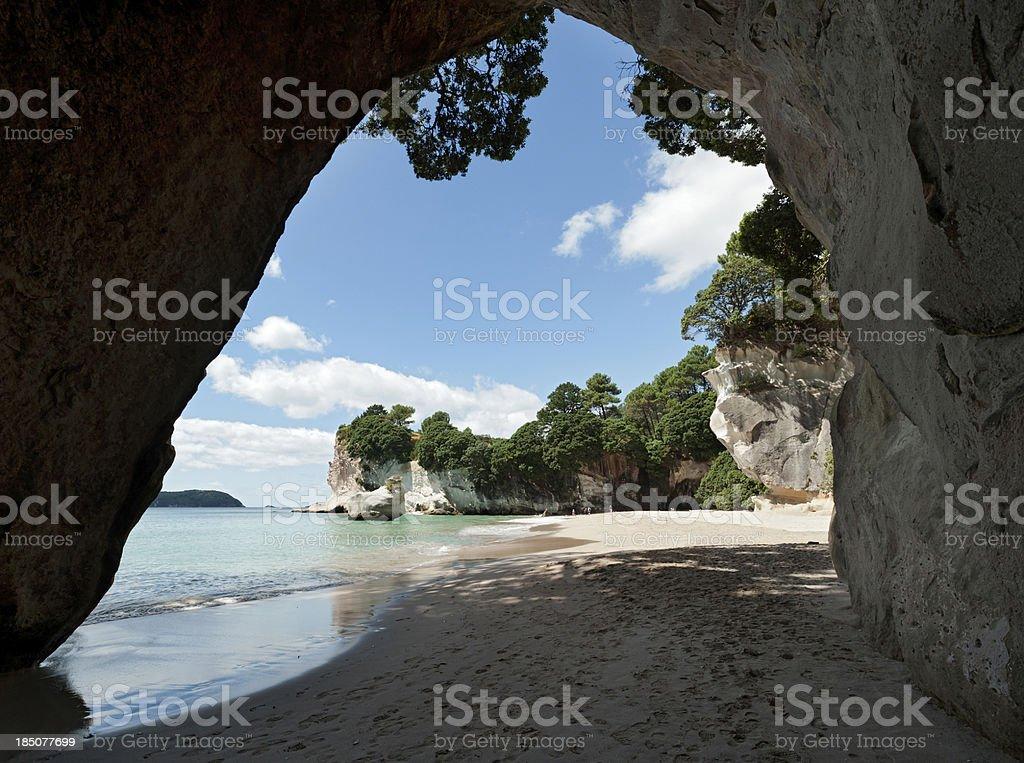 Cathedral Cove Coromandel Peninsular New Zealand stock photo
