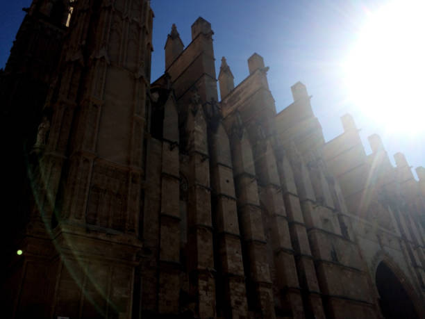 Cathedral dazzled by sunlight Cathedral dazzled by sunlight dazzled stock pictures, royalty-free photos & images