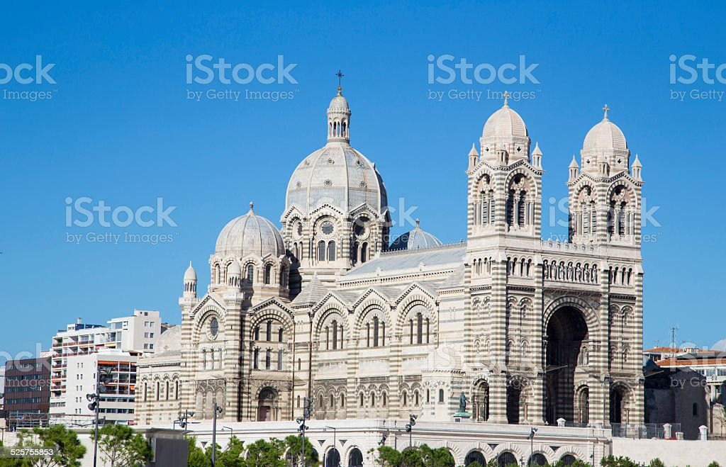 Cathedral de la Major, main church in Marseille, France stock photo
