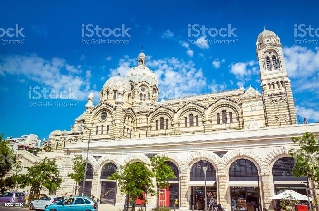 Cathedral de la Major - main church in Marseille, France stock photo