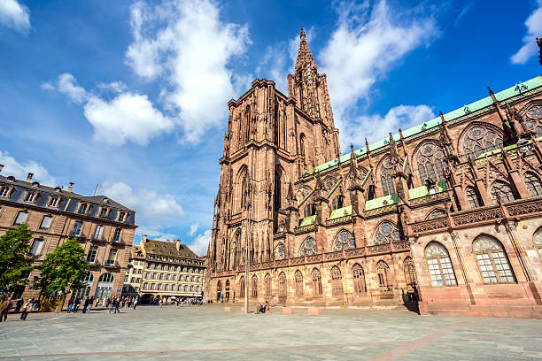 Cathedral de Norte-Dame In Strasbourg, France Cathedral de Norte-Dame In Strasbourg, France strasbourg stock pictures, royalty-free photos & images
