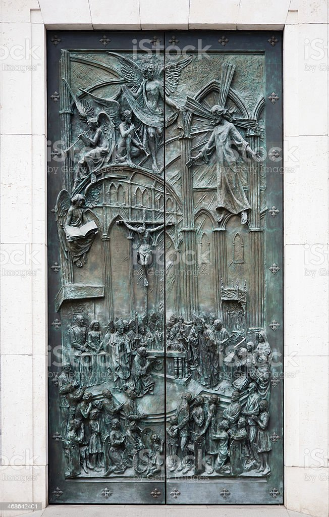 Cathedral door royalty-free stock photo