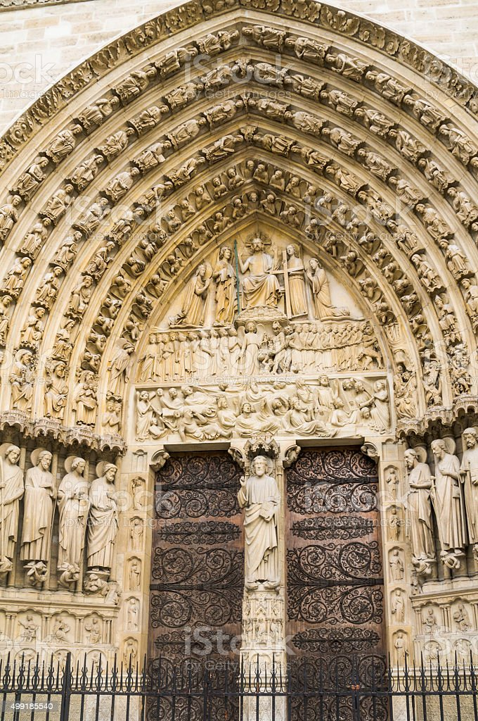 The intricate detail and rich symbolism of the doorway on the western...