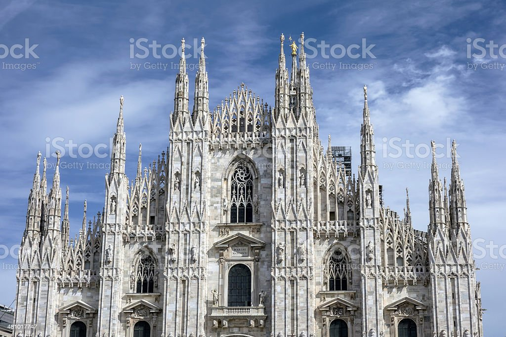 Cathedral Duomo in Milan Italy stock photo