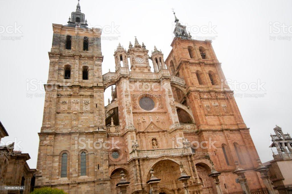Fachada Catedral de Astorga, León, España - foto de stock