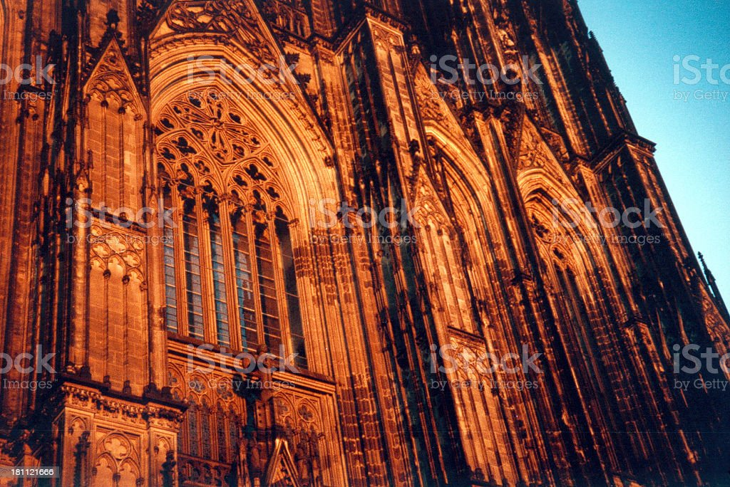 cathedral front in the dusk royalty-free stock photo