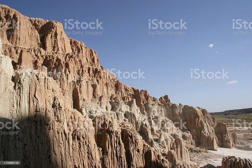 Cathedral Gorge Rock Formation royalty-free stock photo