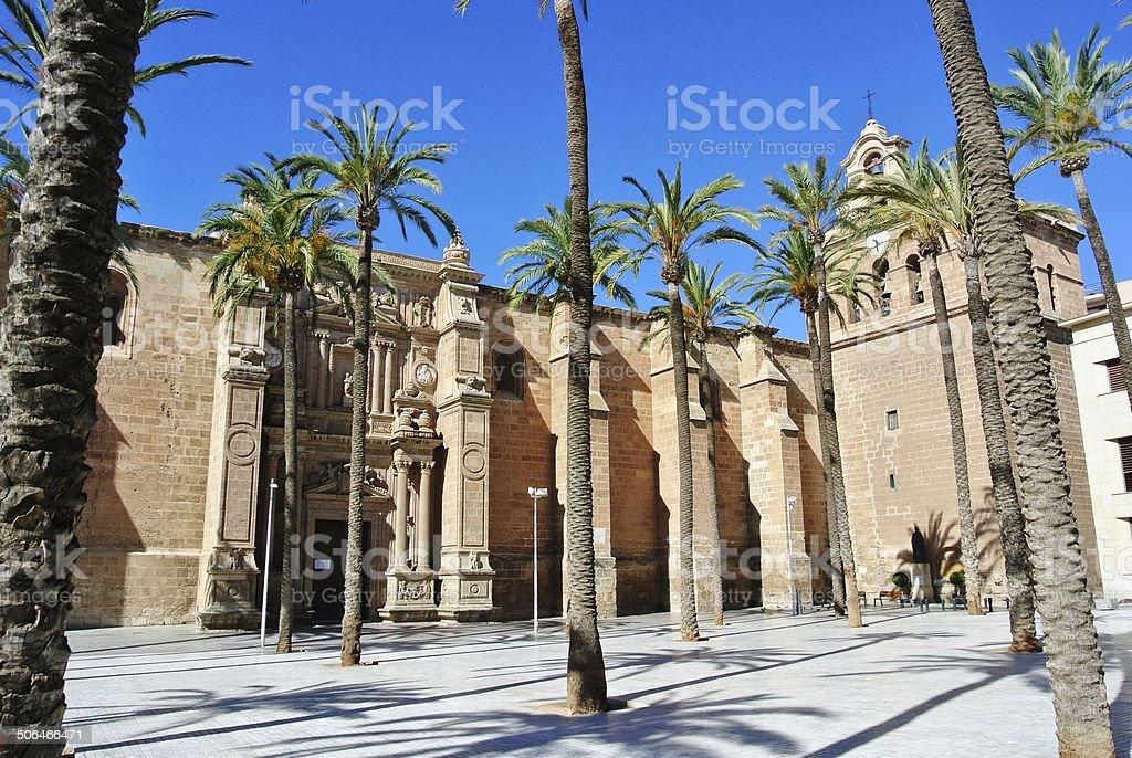 Cathedral in Almeria stock photo