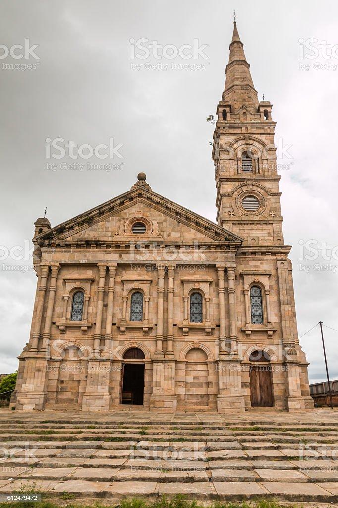Cathedral in Antananarivo Madagascar stock photo