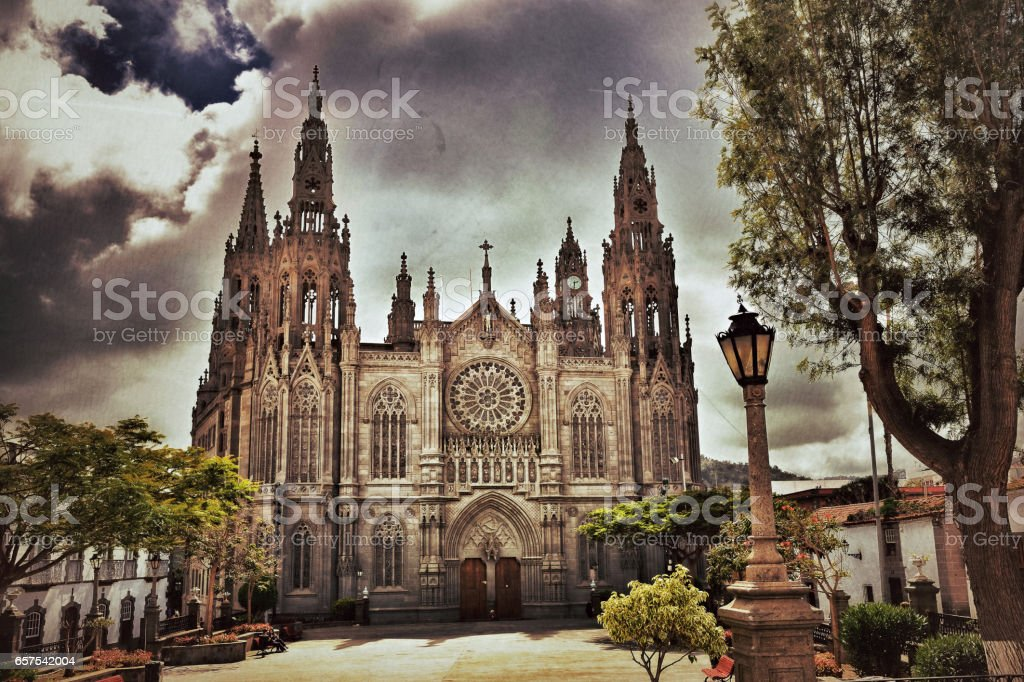 Cathedral in Arucas, Gran Canaria stock photo