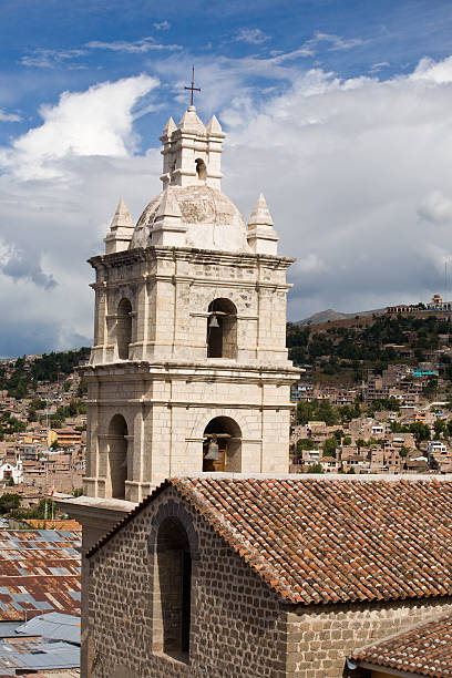 Cathedral In Ayacucho, Peru stock photo