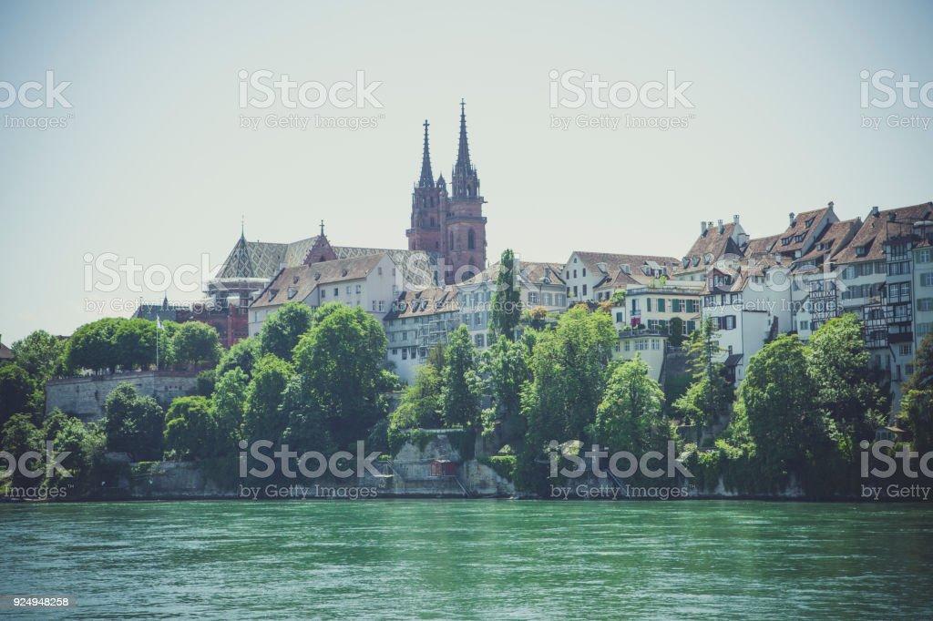 Kathedrale in Basel, Schweiz – Foto