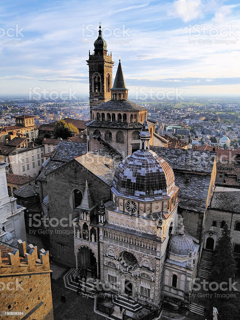 Cathedral in Bergamo, Lombardy, Italy stock photo