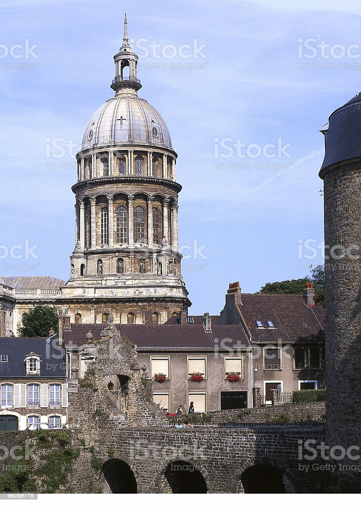 Cathedral in Boulogne, France royalty-free stock photo
