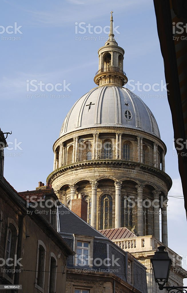 Cathedral in Boulogne Old Town. France royalty-free stock photo