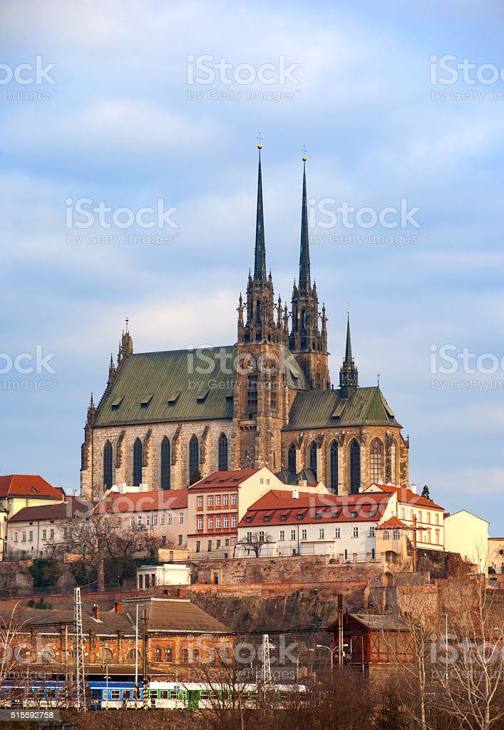 Cathedral in Brno, Czech Republik stock photo