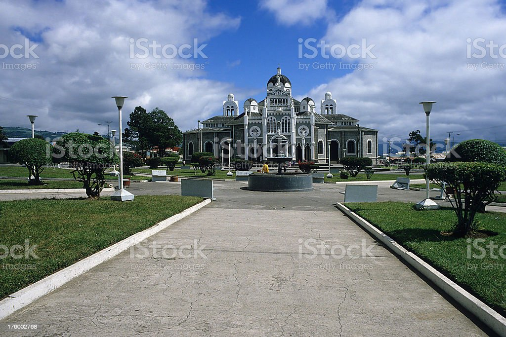 Cathedral in Cartago stock photo