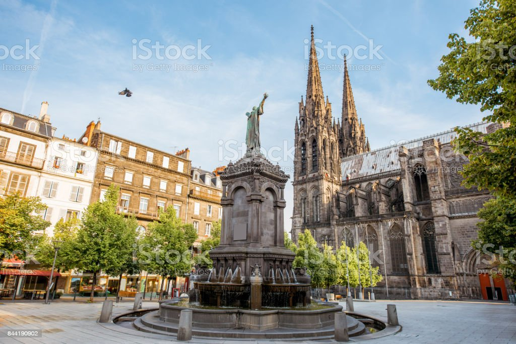 Kathedrale in Clermont-Ferrand Stadt – Foto