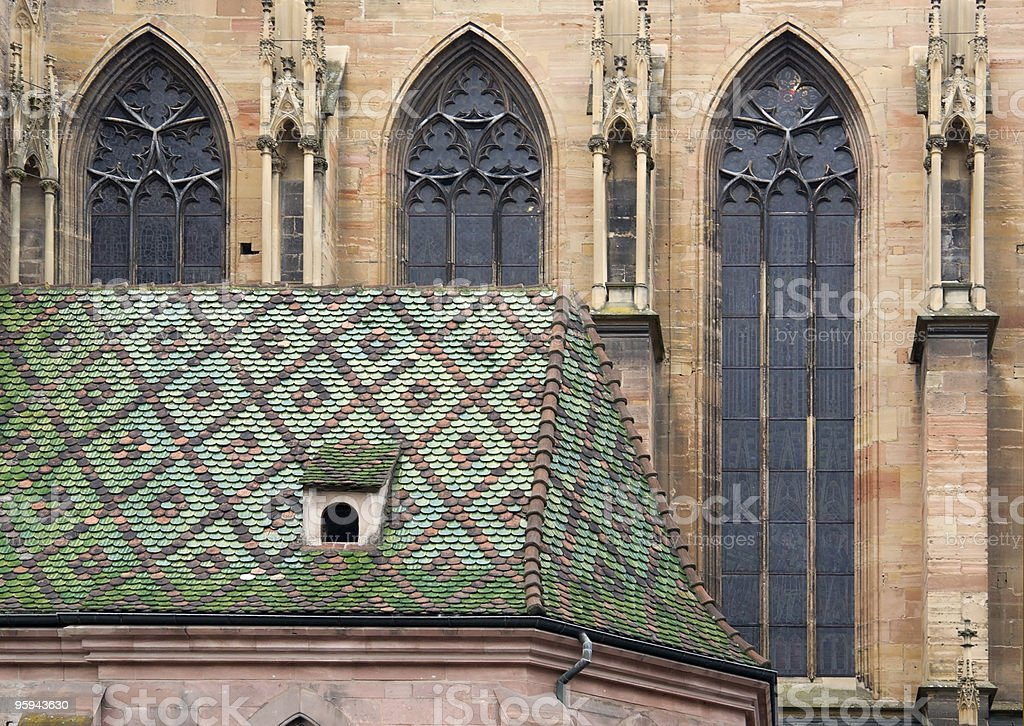 cathedral in Colmar royalty-free stock photo