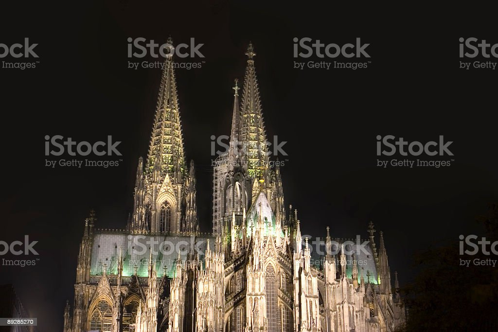 Cathedral in Cologne stock photo