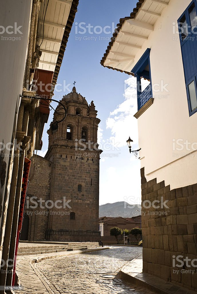 Cathedral  in Cusco stock photo