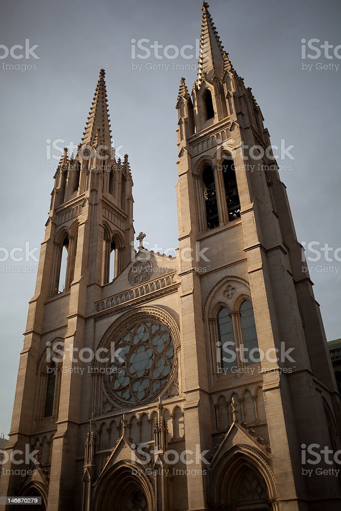 Cathedral in Denver stock photo