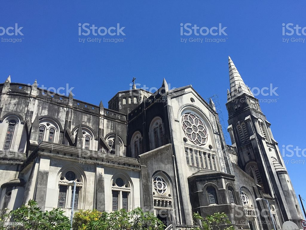 Cathedral in Fortaleza stock photo