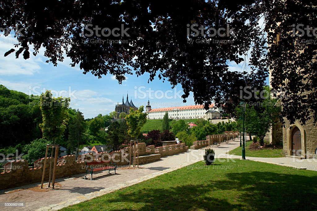 Cathedral in Kutna Hora - protected by UNESCO stock photo