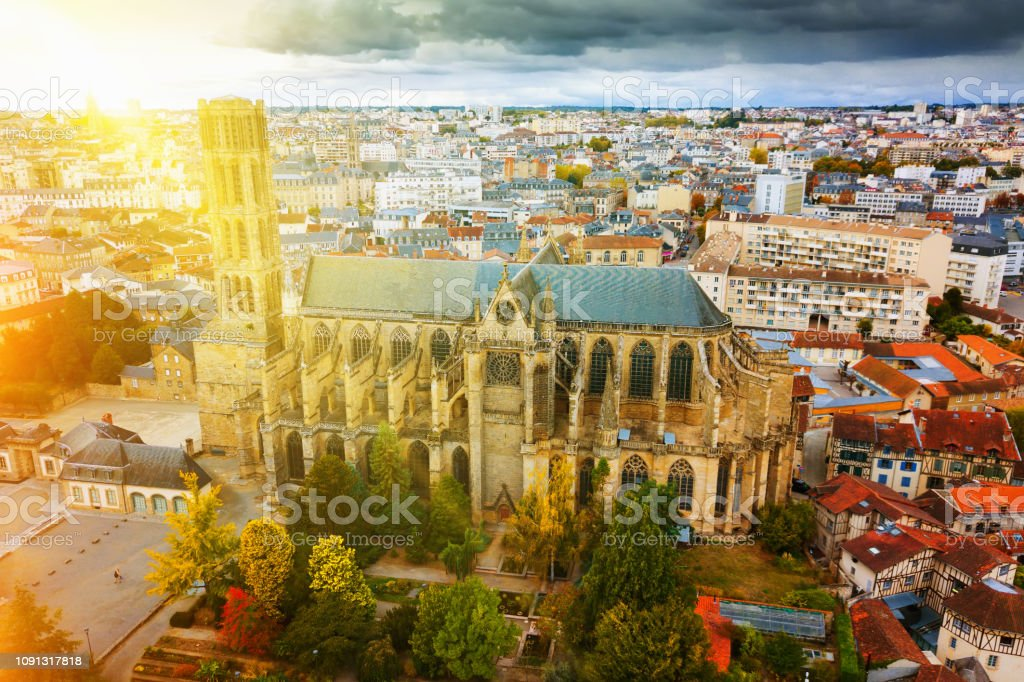 Cathedral in Limoges city, France stock photo
