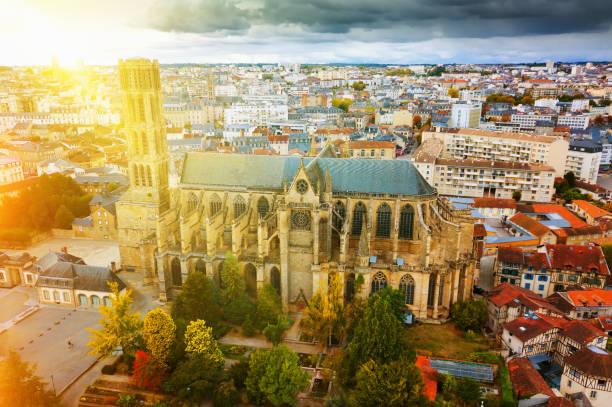 Catedral na cidade de Limoges, França - foto de acervo