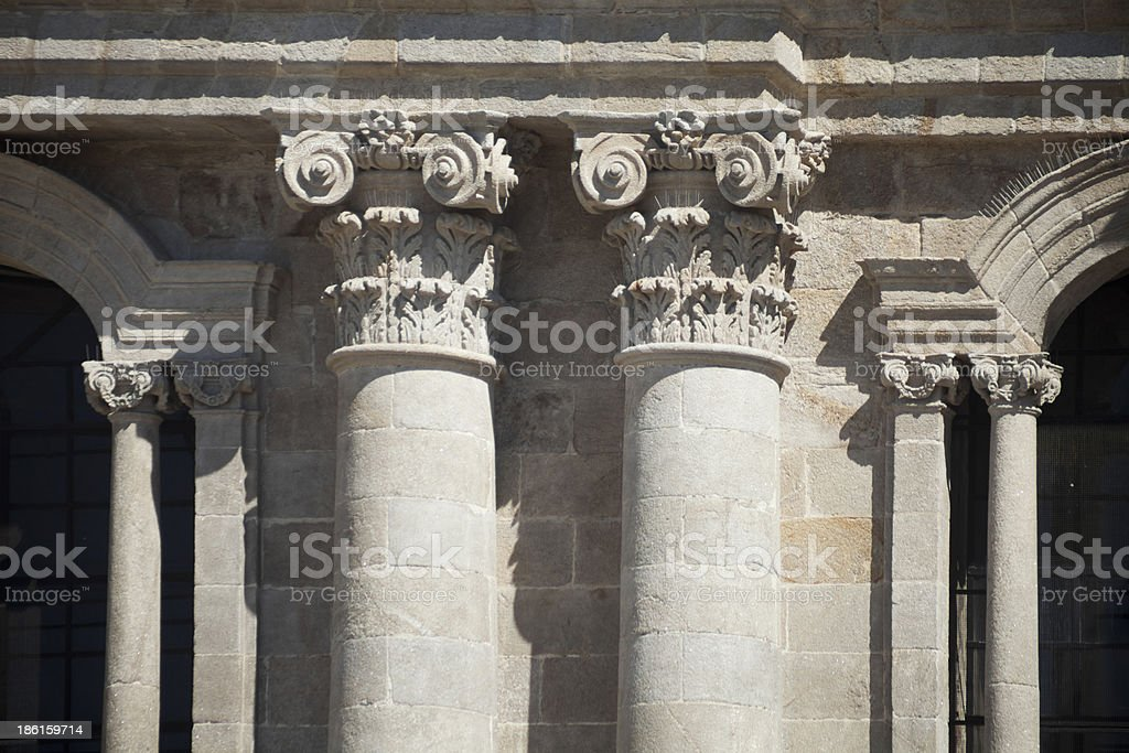 Cathedral in Lugo, Spain stock photo