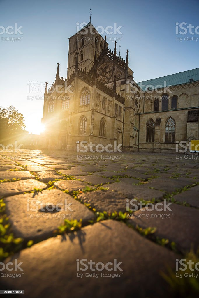 Cathedral in Münster stock photo