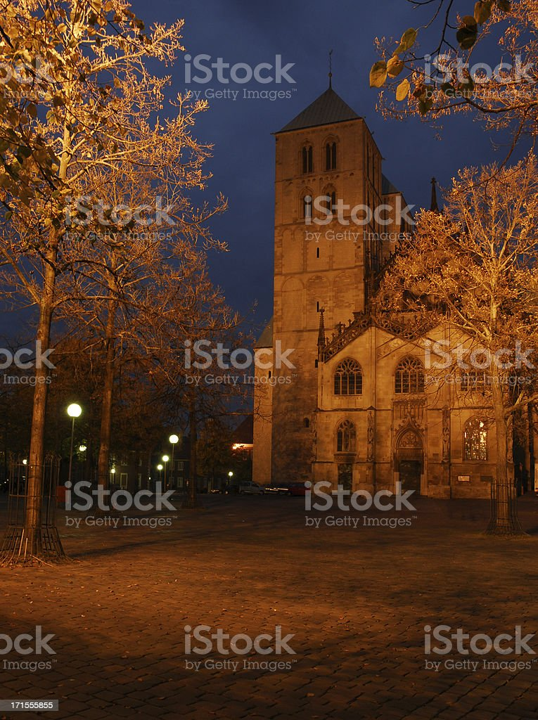 cathedral in Muenster, Germany stock photo