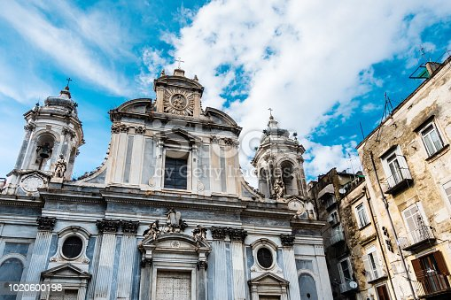 cathedral in Naples city, italy Europe