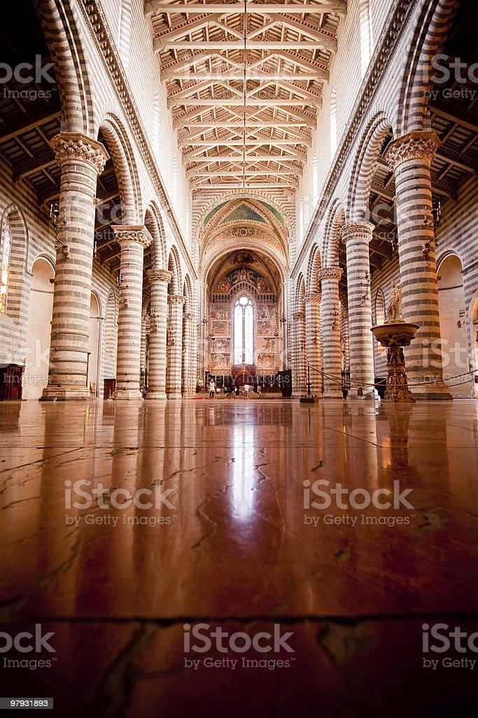 Cathedral in Orvieto, Italy royalty-free stock photo