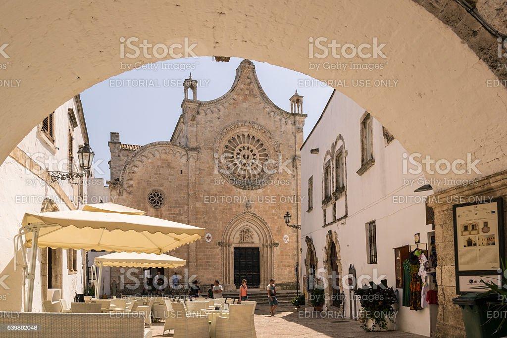 Cathedral in Ostuni, Puglia Italy. stock photo