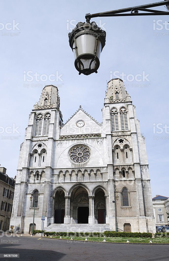 Cathedral in Pau, France royalty-free stock photo