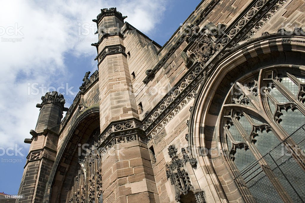 Cathedral in roman city of Chester, England royalty-free stock photo