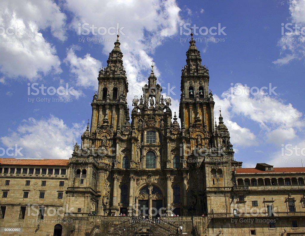 Cathedral in Santiago de Compostela stock photo