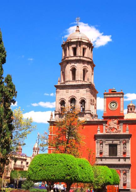 catedral de santiago de querétaro, méxico - queretaro fotografías e imágenes de stock
