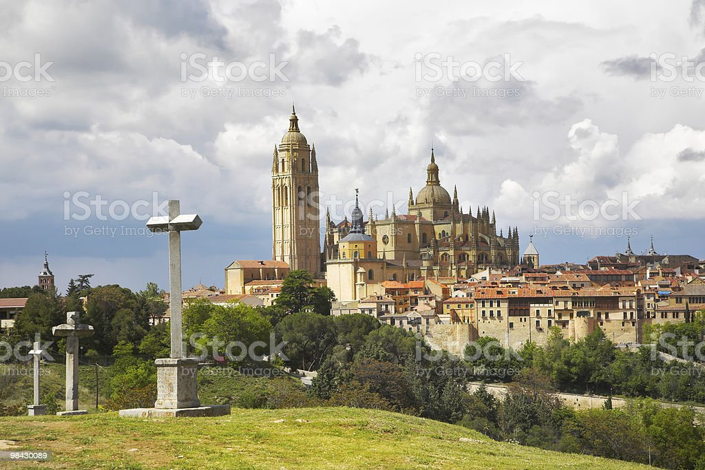 Cathedral in Segovia royalty-free stock photo