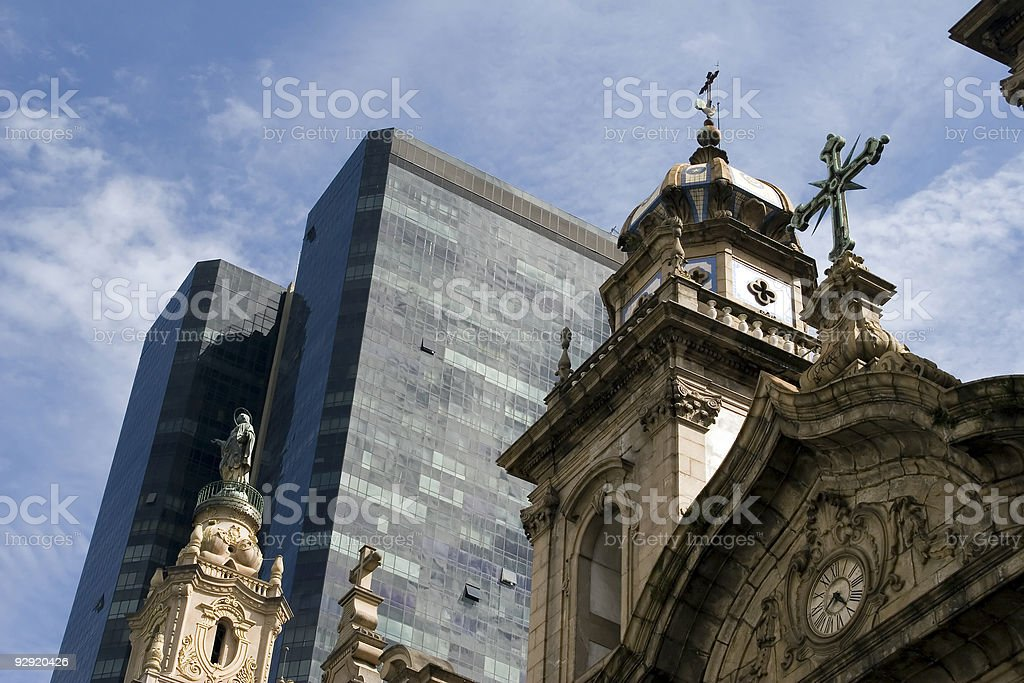 Cathedral in the center of Rio de Janeiro royalty-free stock photo