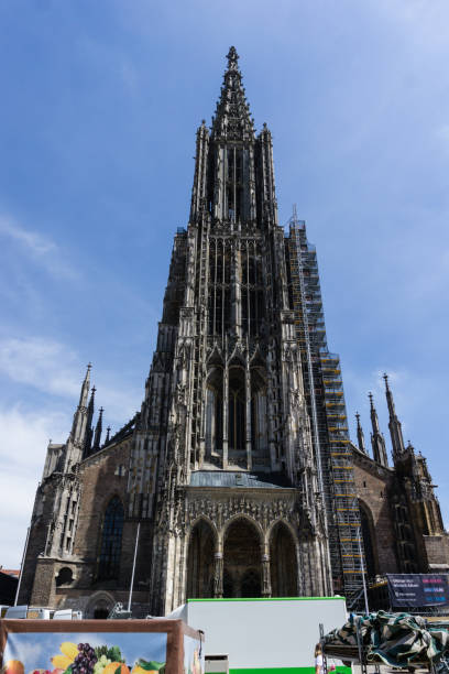 Cathedral in the city Ulms Baden-Wurttemberg Germany Cathedral in the city Ulms Baden-Wurttemberg Germany ulm stock pictures, royalty-free photos & images