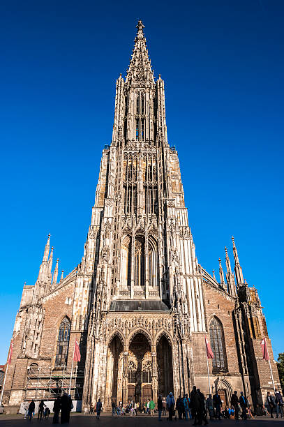 Cathedral in Ulm Ulm Minster, Cathedral, Ulmer Muenster, in Ulm, Germany ulm minster stock pictures, royalty-free photos & images