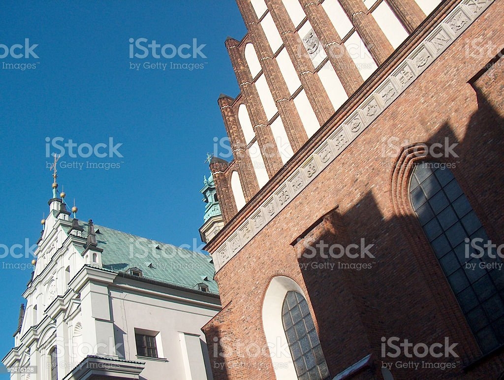 Cathedral in Warsaw royalty-free stock photo