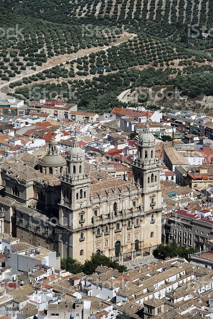 Cathedral, Jaen, Andalusia, Spain. royalty-free stock photo
